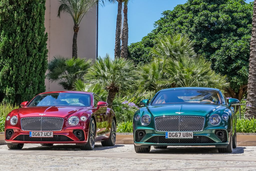 Bentley Continental GT Flycam Media Incentive and Event Photographer Mallorca and Ibiza
