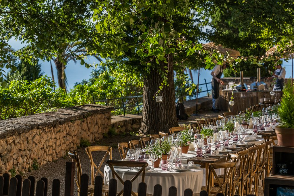 Monastery Deia Terrace Flycam Media Incentive and Event Photographer Mallorca and Ibiza