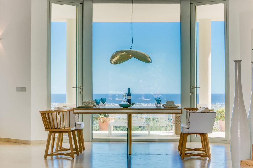 Finca Es Carritxo Dining Table Flycam Media High Quality Real Estate Photography Mallorca Ibiza