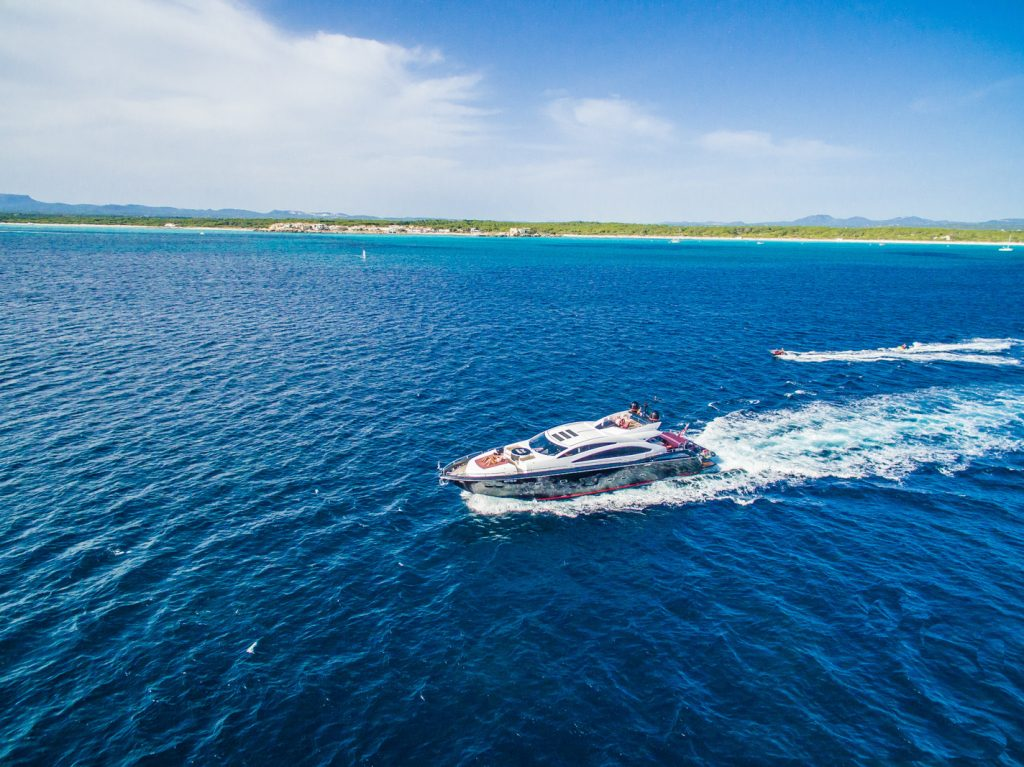 M/Y Darknkight Aerial Sunseeker Predator Mallorca Photography Yacht Photographer Multicopter Yacht Photography Mallorca Ibiza Spain Drone