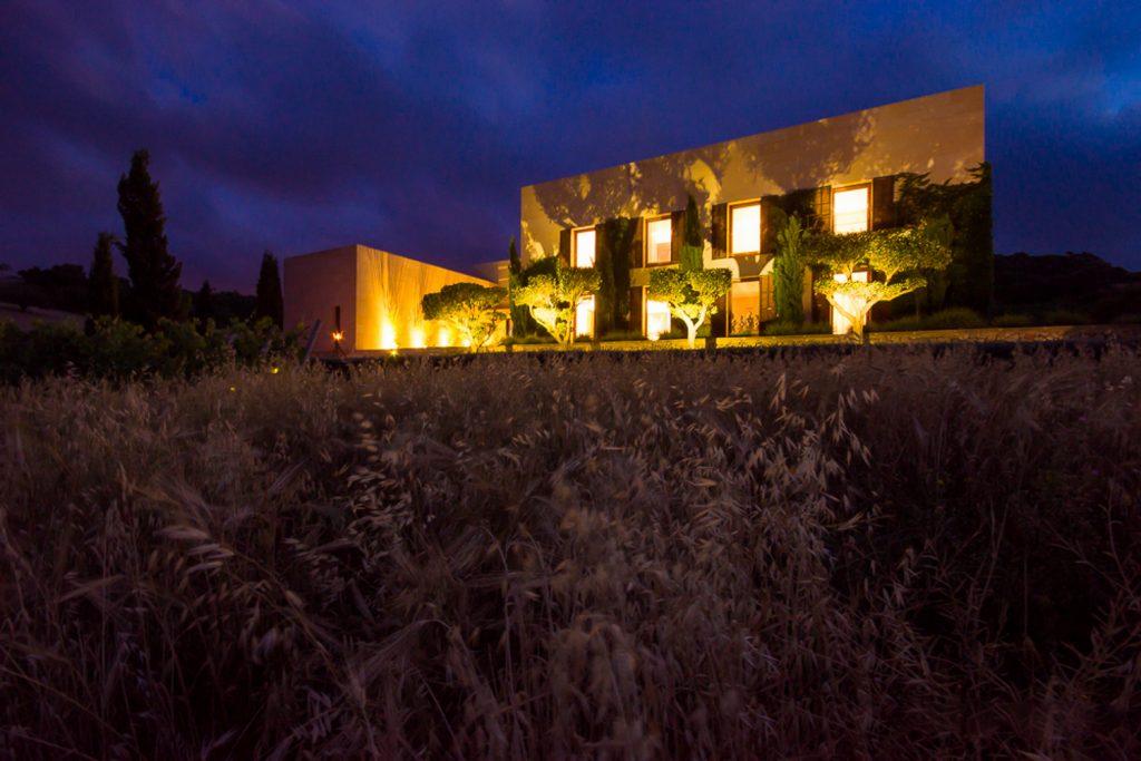 Finca San Llorence at Night Flycam Media High Quality Real Estate Photography Mallorca Ibiza