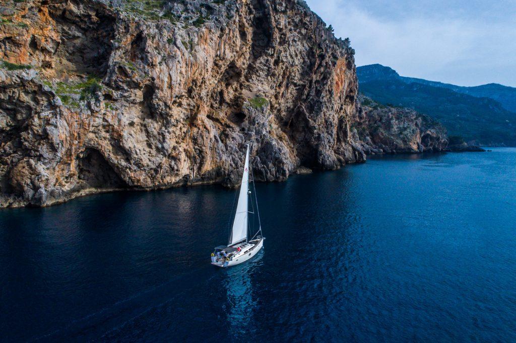 Segler vor der Küste SollerMallorca Photography Yacht Photographer Multicopter Yacht Photography Mallorca Ibiza Spain Drone