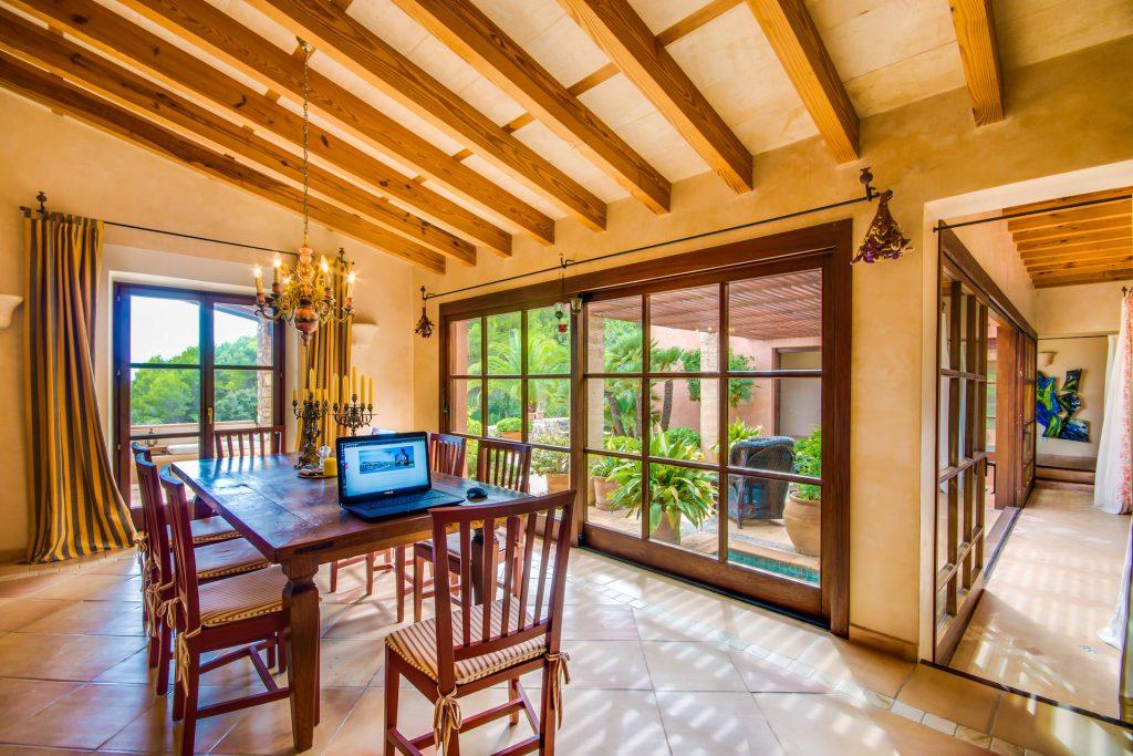 Finca Arta Comedor Flycam Media High Quality Real Estate Photography Mallorca Ibiza