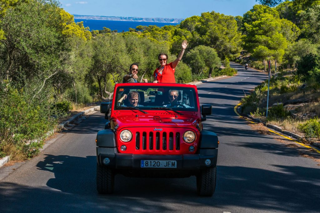 Wrangler Jeep Tour Flycam Media Incentive and Event Photographer Mallorca and Ibiza