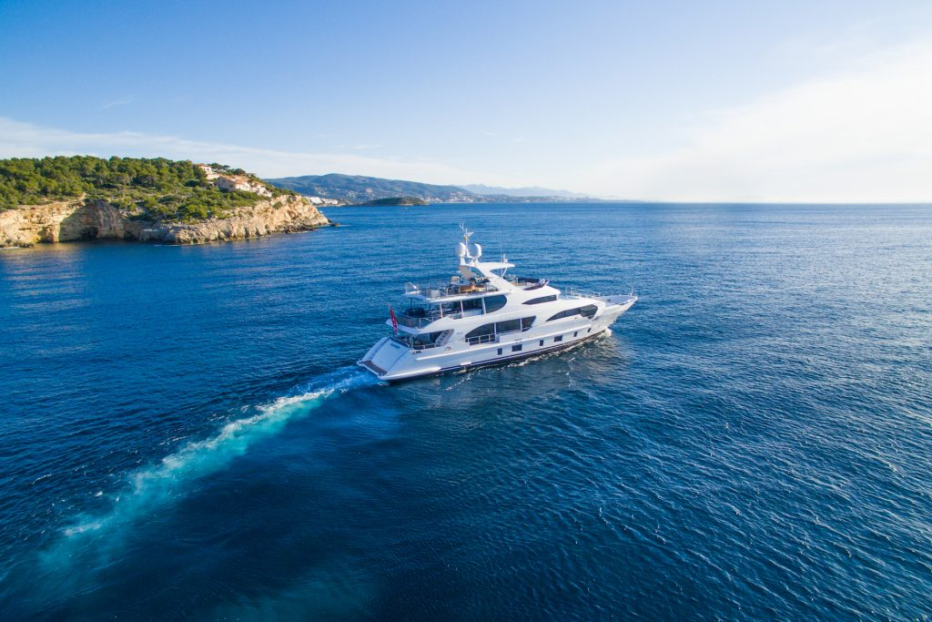 M/Y Incontatto Benetti Superyacht Aerial Cruise Mallorca Photography Yacht Photographer Multicopter Yacht Photography Mallorca Ibiza Spain Drone