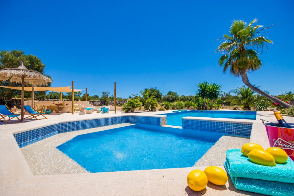 Finca Palm Pool Flycam Media High Quality Real Estate Photography Mallorca Ibiza