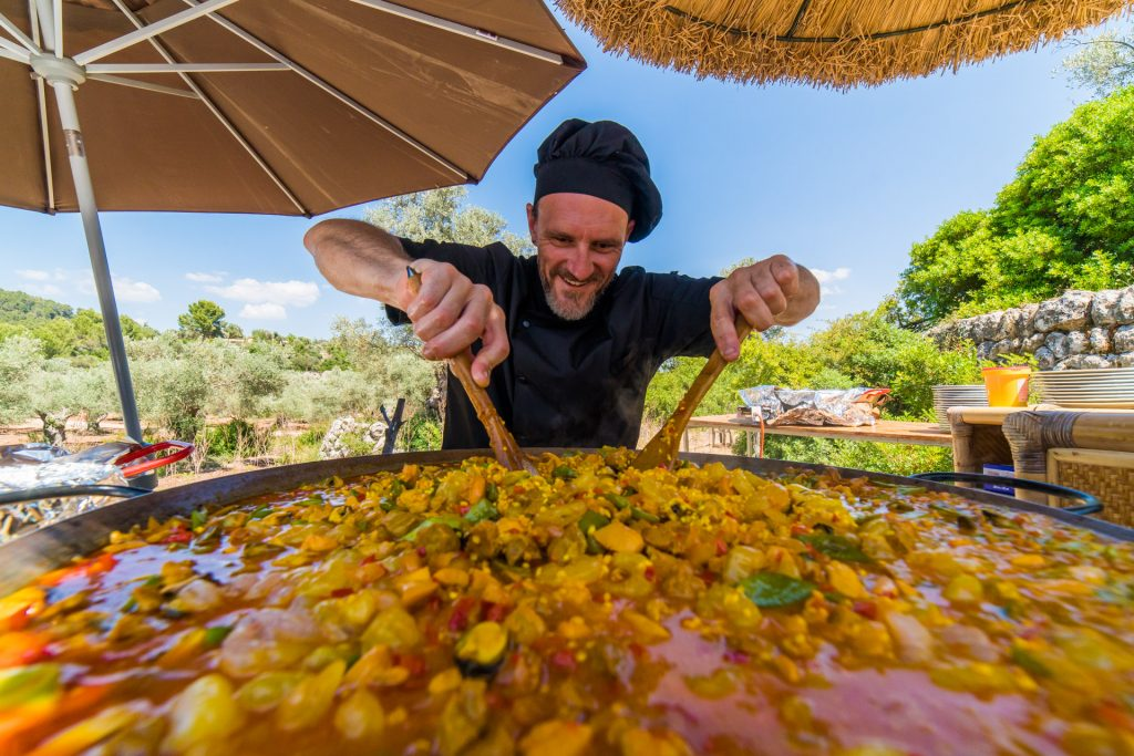 Paella Chef Flycam Media Incentive and Event Photographer Mallorca and Ibiza