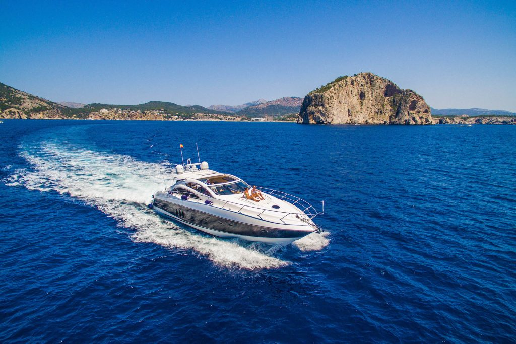 Cruising No Mercy Sunseeker Predator Flycam Media Yacht Photography Mallorca